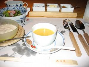 洋風朝食のスープ